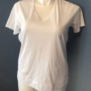 Ralph Lauren 1X white 100% cotton v-neck